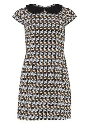 Missy-cat-print-collar-dress