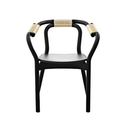 Knot chair black and natural