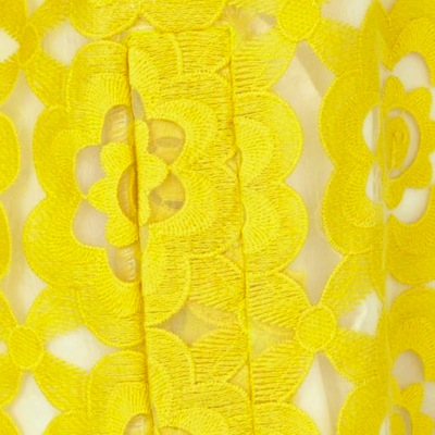 Yellow coat fabric detail