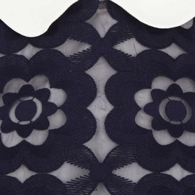 Navy dress detail