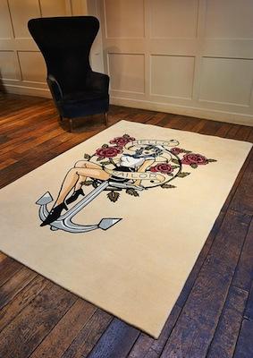 Rob tattoo rug