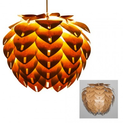 Adorn pendant light wood