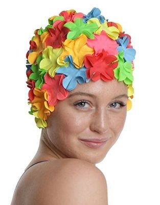 Fashy coloured swimming cap