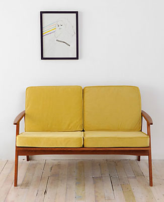 Midcentury style dagmar roller two seater sofa at urban outfitters retro to go - Sofa roller ...