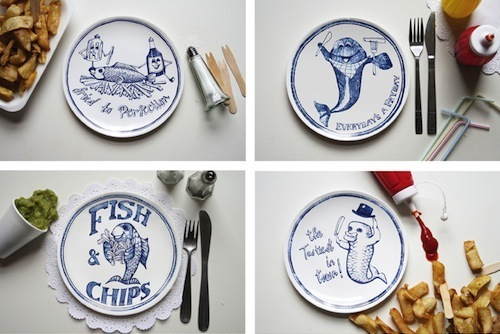 Home slice chippy plates