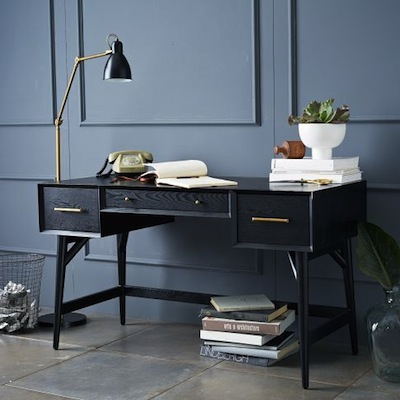 Mid century desk west elm
