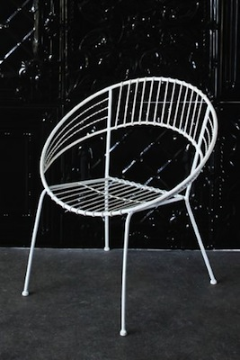 Inside and out chair in white