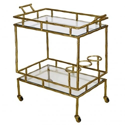 Retro drinks trolley