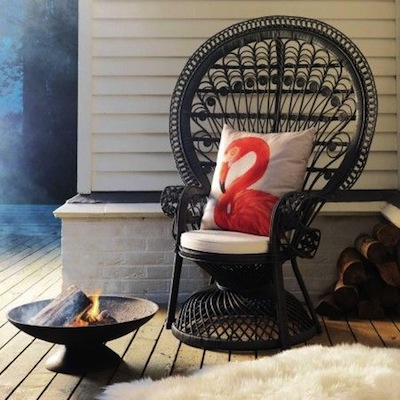 Black peacock chair