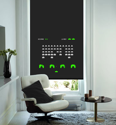 8 bit gaming roller blinds at english blinds retro to go. Black Bedroom Furniture Sets. Home Design Ideas