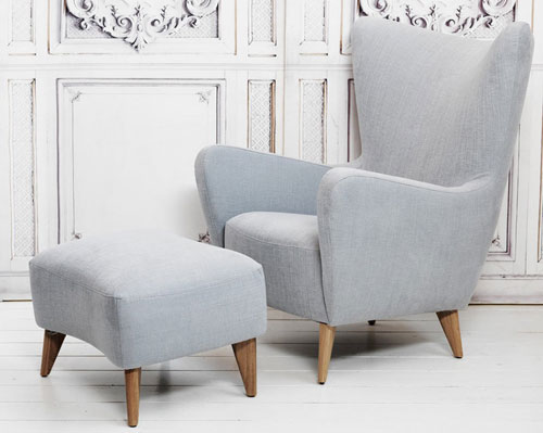 It Looks Classy And Weu0027re Guessing This Elsa Chair And Footstool At Graham  And Green Has No Shortage Of Comfort Too.