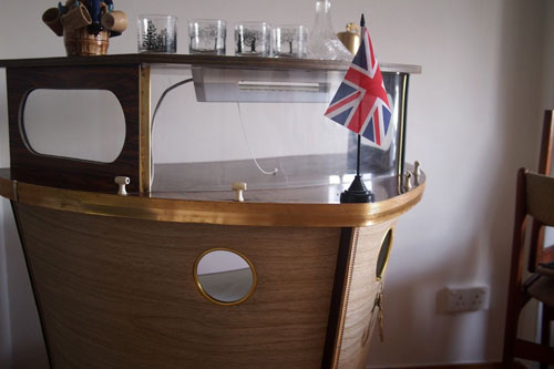Weu0027re Firmly In The Land Of Kitsch With This 1950s Boat Shaped Cocktail Bar.