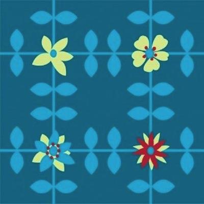 Blue vinyl tiles