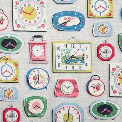 Clocks fabric