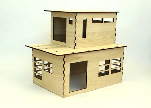 Modernist rabbit house