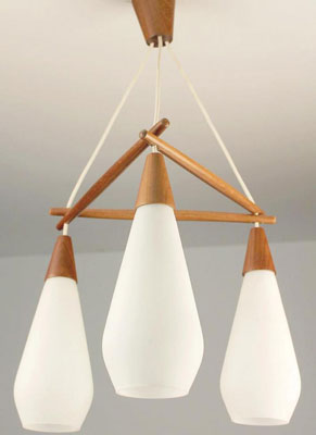 EBay Watch Danish Three Drop Pendant Light