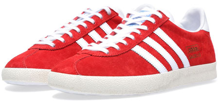 Adidas Gazelle OG trainers reissued in red suede - Retro to Go 62f9f2cc7