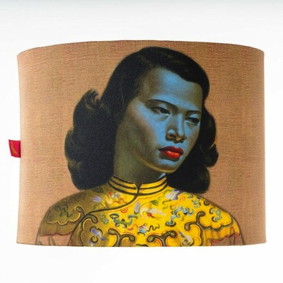 Chinese girl lampshade