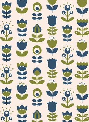 Pop Wallpaper mini labo blue