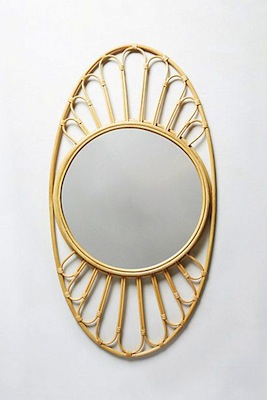 Midcentury optic mirror