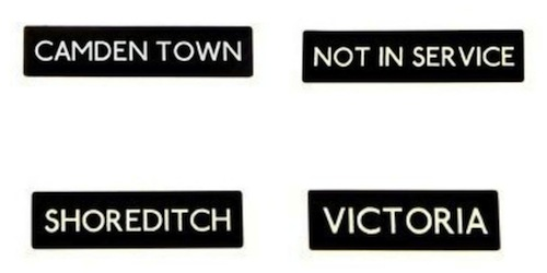 Bus sign brooches