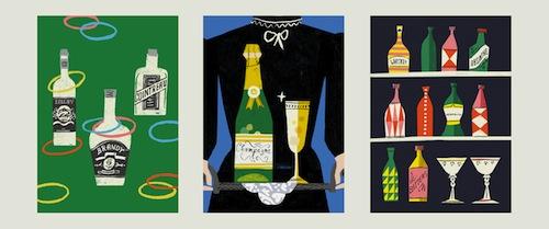 Vintage cocktail spread