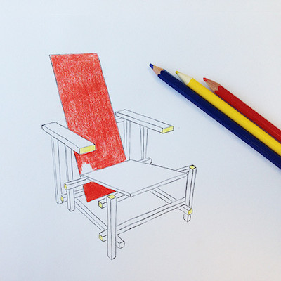 Colouring book chairs