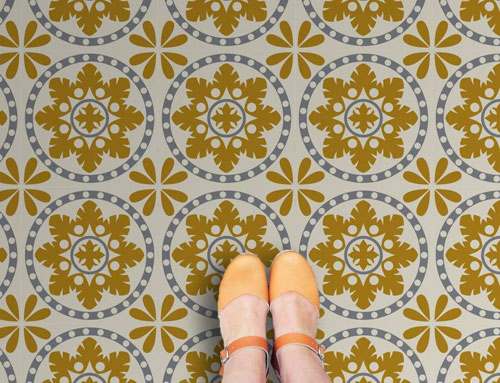 Retro vinyl floor tile range by Zazous - Retro to Go