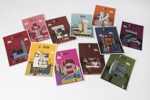 Archibet postcards