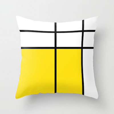 Mondrian cushion yellow
