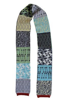 Vintage tile scarves