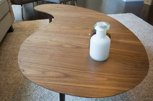 Midcentury Style Kidney Bean Coffee Table By Sc Woodworker