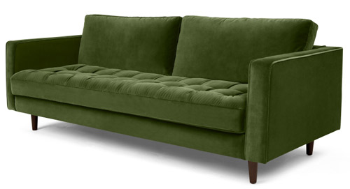 Exceptional A Rather Luxurious Finish For The Scott Three Seater Sofa At Made.