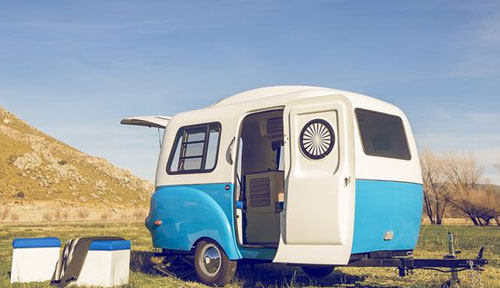 If You Thought There Was Pretty Much Nothing Cool About A Caravan Then Might Want To Think Again This H1 Travel Trailer By Happier Camper Is Coming