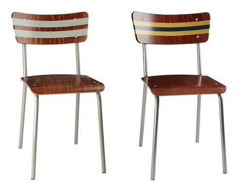 Midcentury school chairs