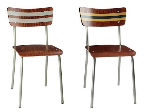 Midcentury school chairs