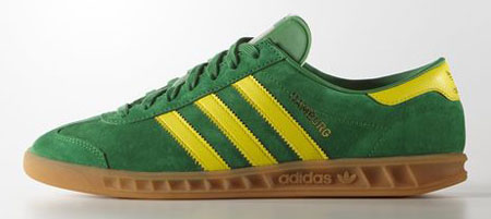 Adidas Hamburg trainers reissued in green and blue colour options ...
