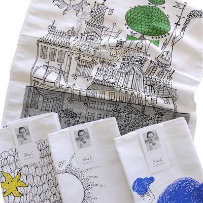Stig lindberg tea towel skandium