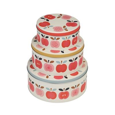 Vintage-apple-set-3-cake-tins-26127