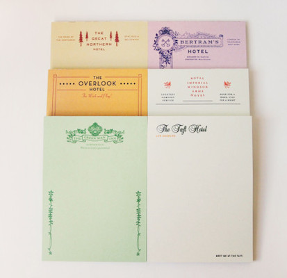 Fictional notepads