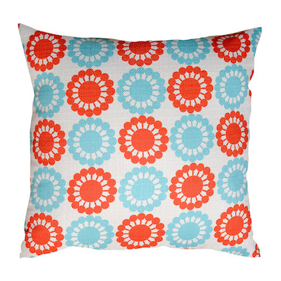 Marthas retro flower cushion