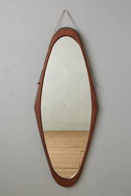 Polished wood mirror cedar