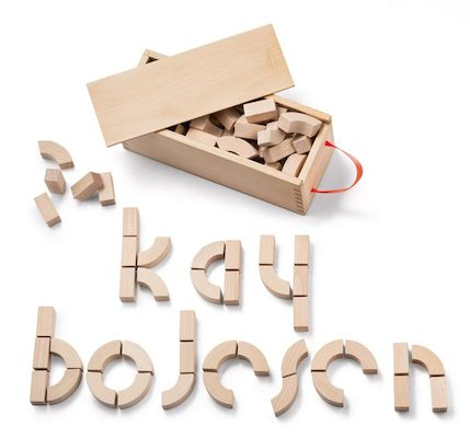 Kay Bojesen alphabet bricks