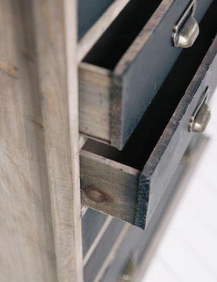 Vintage plan chest drawers
