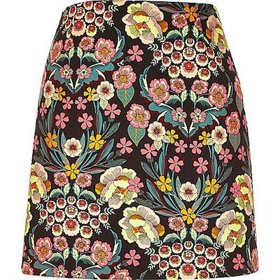 Retro floral skirt river island