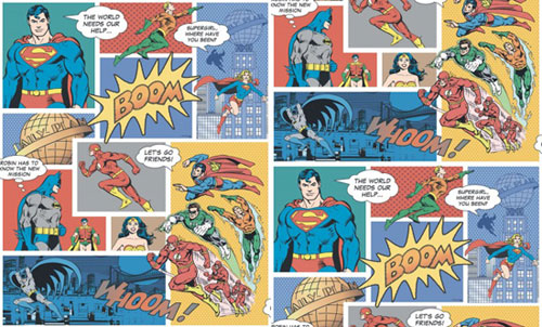 If Comic Books Are Your Life You Might Like The Idea Of Covering A Wall Or Room In This Justice League America Book Wallpaper By Galerie