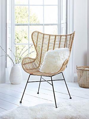 1950s rattan chair