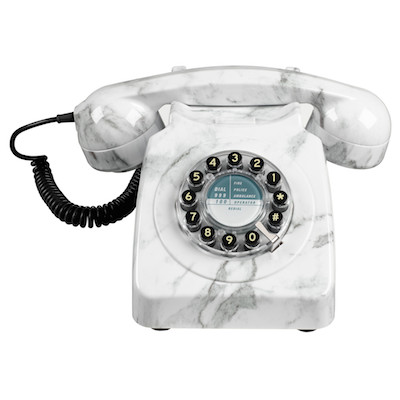 Marble finish phone Wild and Wolf