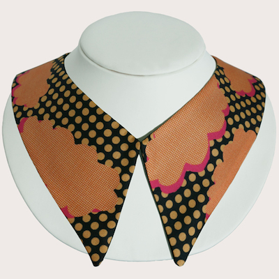 Orange+Clouds+Silk+Collar+-+designer+detachable+collars+-+Cleo+Ferin+Mercury