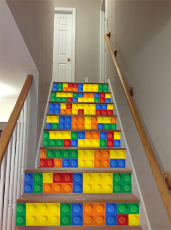 Popular For A Really Unique Look For Your Staircase Check Out These Lego  Stair Stickers From